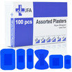 JFA Medical Blue Assorted Plasters (6 sizes) 100 Plasters per box Thumbnail