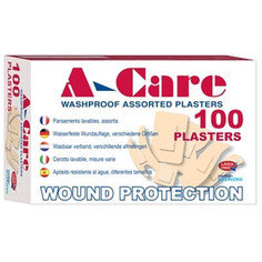 A-care Washproof Assorted Plasters (6 sizes) - 100 per box