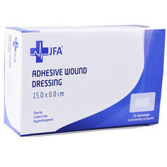 Adhesive Sterile Wound Dressings - Pack of 25 (80mmx150mm)