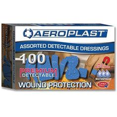 Aeroplast Premium Assorted Blue Detectable Plasters - Pack of 100