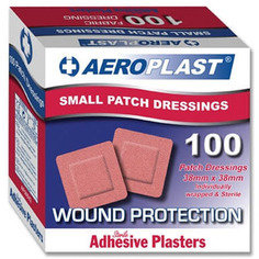 Aeroplast Premium Square Fabric Plasters 38mm x 38mm  - 100 per box