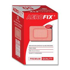 Aerofix Non Woven Adhesive Island Dressing 80x100mm - Pack of 50