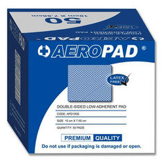 Aeropad Double Sided Low-adherent Pad 10cm x 7.5cm - Pack of 50