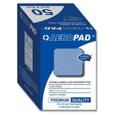Aeropad Double Sided Low-adherent Pad 5cm x 5cm - Pack of 50