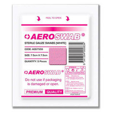 Aero Sterile Gauze Swabs 7.5cm x 7.5cm - Pack of 125