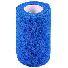 Blue Colour Cohesive Latex Bandage 10cm x 4.5m - Single