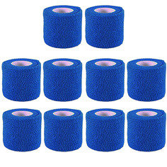 Blue Colour Cohesive Latex Bandage 5cm x 4.5m - Pack of 10