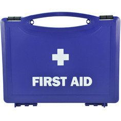 Small Blue first aid box - empty