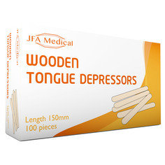 Box of 100 JFA Medical Wooden Tongue Depressors