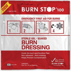 Burn Stop Gel Soaked Dressing 10cm x 10cm