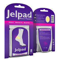 CASE OF 25 Jelpad Blister Plasters - Pack of 8