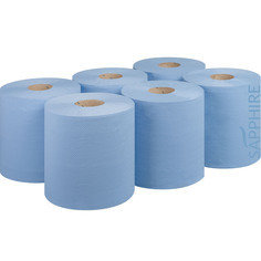 Fourstones Sapphire Blue Centrefeed Tissue Roll 175mm x 150m - Pack of 6