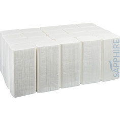 Fourstones Sapphire Z-Fold Hand Towels 2Ply - White 3000 Sheets