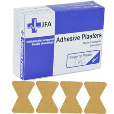 JFA Fabric Fingertip Plasters 40x60mm 50 Plasters per pack