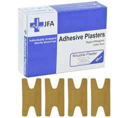 JFA Fabric Knuckle Plasters 48 x 75mm 50 Plasters Per Pack