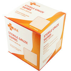 CASE OF 24 JFA Premium Sterile Gauze Swabs 10cm x10cm - Box of 100