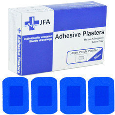 JFA Medical Blue Jumbo Plasters 50 Plasters per box