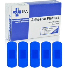 JFA Medical Blue Large Plasters 100 Plasters per box