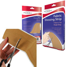 JFA Medical Fabric Dressing Strips (7.5cm x 1m) - Pack of 5