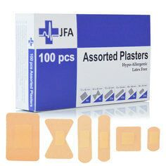JFA Washproof Assorted Plasters (6 sizes) 100 Plasters Per Box