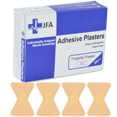 JFA Washproof Fingertip Strip Plasters 40x60mm 50 per Pack