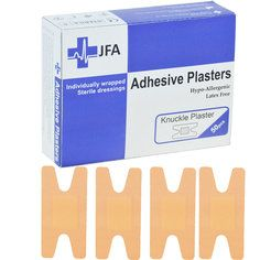 JFA Washproof Knuckle Plasters 48 x 75mm 50 Plasters Per Pack