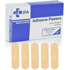 JFA Washproof Large Strip Plasters 22x72mm 100 per Pack