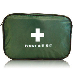Large fabric first aid pouch - empty