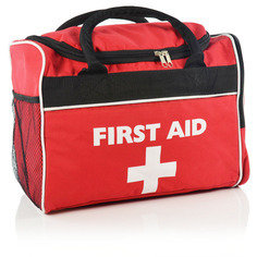 Large Red 'Run On' First Aid Bag - Empty