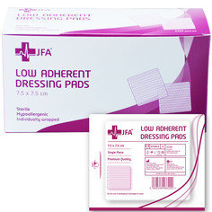 Low adhesive pad 7.5cm x 7.5cm - Pack of 100