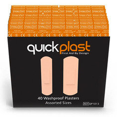 Quickplast Pilferproof Washproof Plasters - Pack of 40 x 6