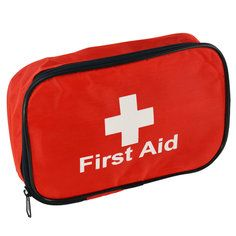 Red Economy first aid pouch - empty