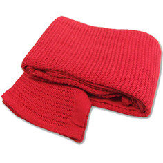 Red First Aid Emergency Cotton Cellular Blanket