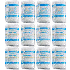 Rennington High Quality Cotton Crepe Bandages with elastic metal clips (7.5cmx4.5m) - Pack of 12