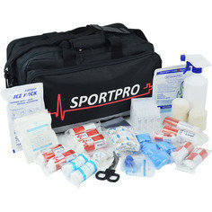 Sportpro All-Purpose Sports First Aid Kit in Large Black Sportpro Bag