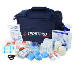 Sportpro All-Purpose Sports First Aid Kit in Large Blue Sportpro Bag