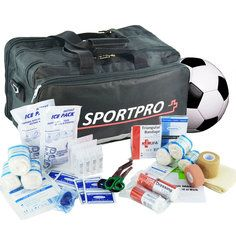 SportPro Football First Aid Kit in Large SportPro Black Bag