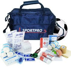 SportPro Football First Aid Kit in Large SportPro Blue Bag