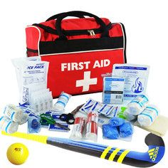 SportPro Hockey First Aid Kit in Large Red 'Run on'  Bag