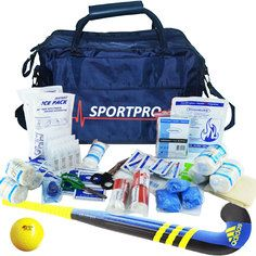 SportPro Hockey First Aid Kit in Large SportPro Blue Bag