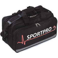 SportPro Large Black Sports First Aid Bag - Empty