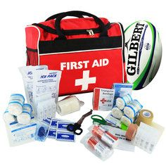 SportPro Rugby First Aid Kit in Large JFA Red Run-On Bag