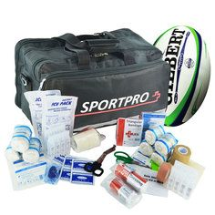 SportPro Rugby First Aid Kit in Large Black Sportpro Bag