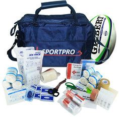 SportPro Rugby First Aid Kit in Large Blue SportPro Bag