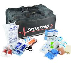 SportPro Swimming & Watersports First Aid Kit in Large SportPro Black Bag