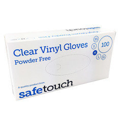Standard Extra Large Box of 100 Vinyl Gloves, Powder Free