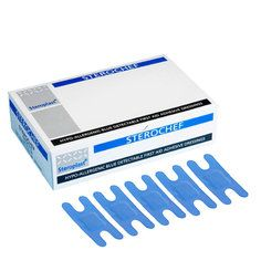 Steroplast Knuckle Blue Detectable Plasters (7.5cm x 5cm) - 50 per box