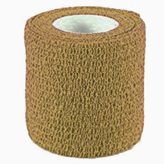 Tan Colour Cohesive Latex Bandage 5cm x 4m - Single