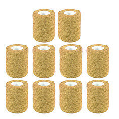 Tan Colour Cohesive Latex Bandage 7.5cm x 4.5m - Pack of 10