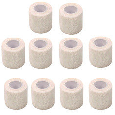 White Colour Cohesive Latex Bandage 5cm x 4.5m - Pack of 10
